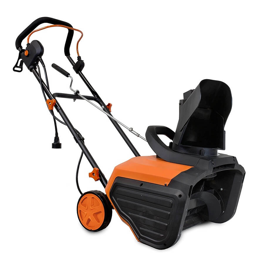 orange wen snow blower