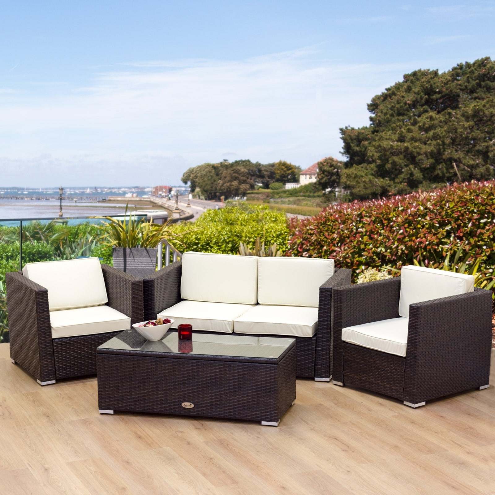 Rattan Outdoor Chairs Part - 33: ... Chairs There Are Just As Many Individual And Small Set Options.  However, As A General Rule When Shopping Rattan Furniture Sets Provide The  Best Value.