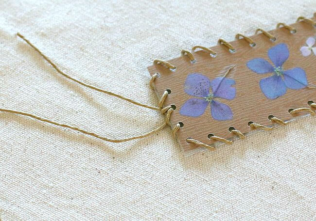 bookmark made with pressed flowers