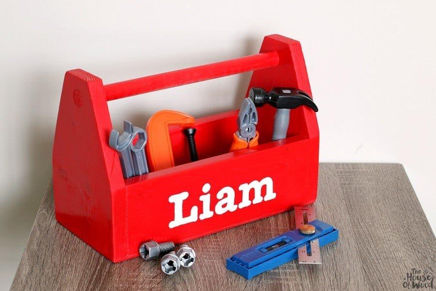 red dyi tool box