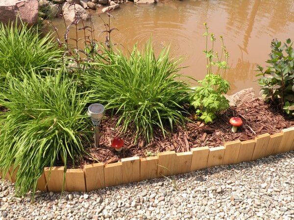 garden edging made of planks