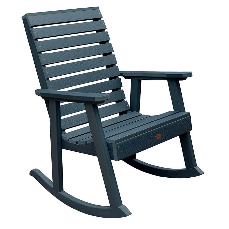 rocking chair for the garden, recycled plastic garden furniture