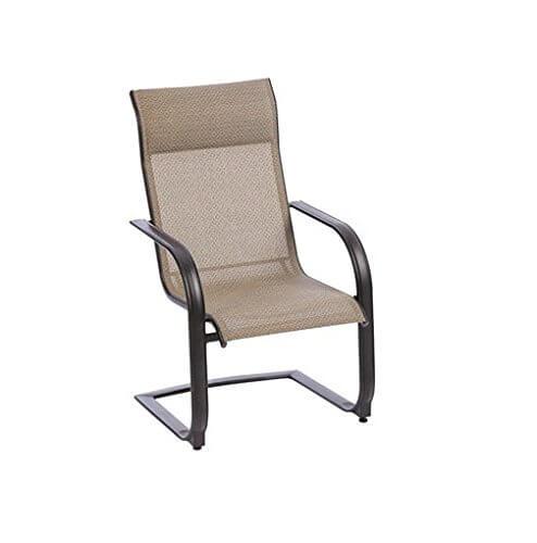 grey c-spring chair
