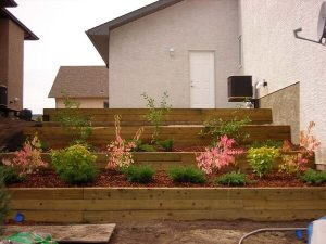 retaining walls built with timber