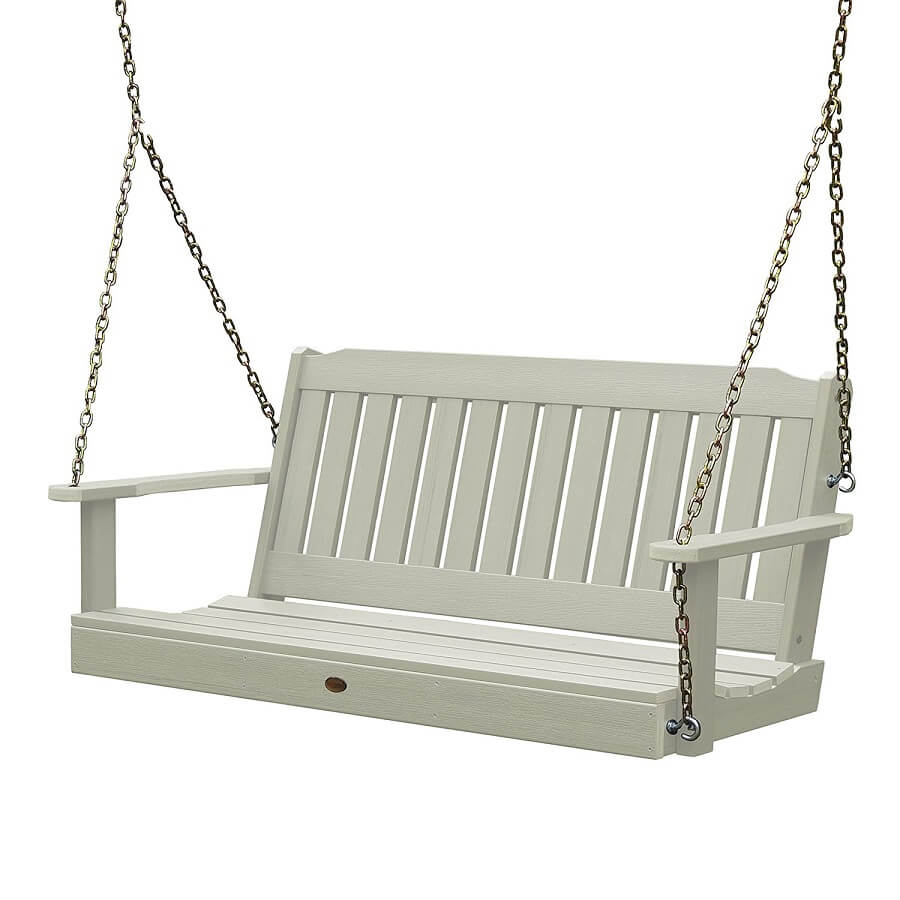 porch swing for the outdoors, recycled plastic garden furniture
