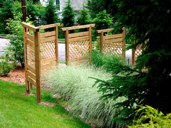 fence panels made out of timber, landscape timbers