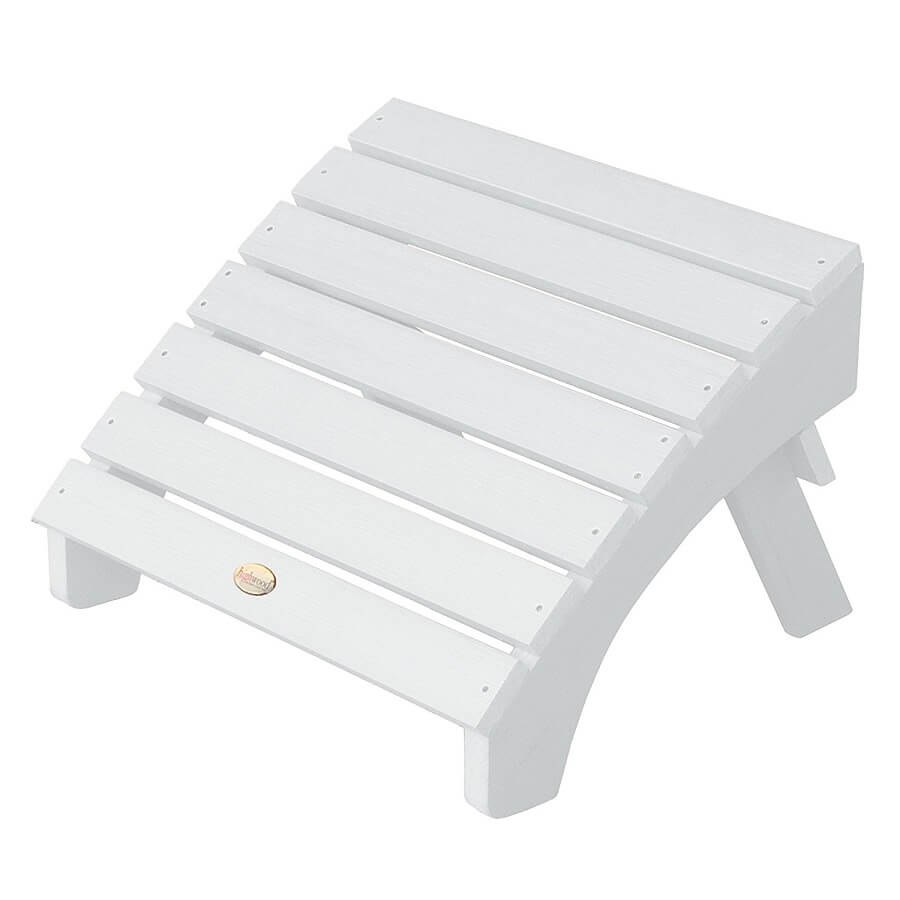 white recycled plastic ottoman, recycled plastic garden furniture