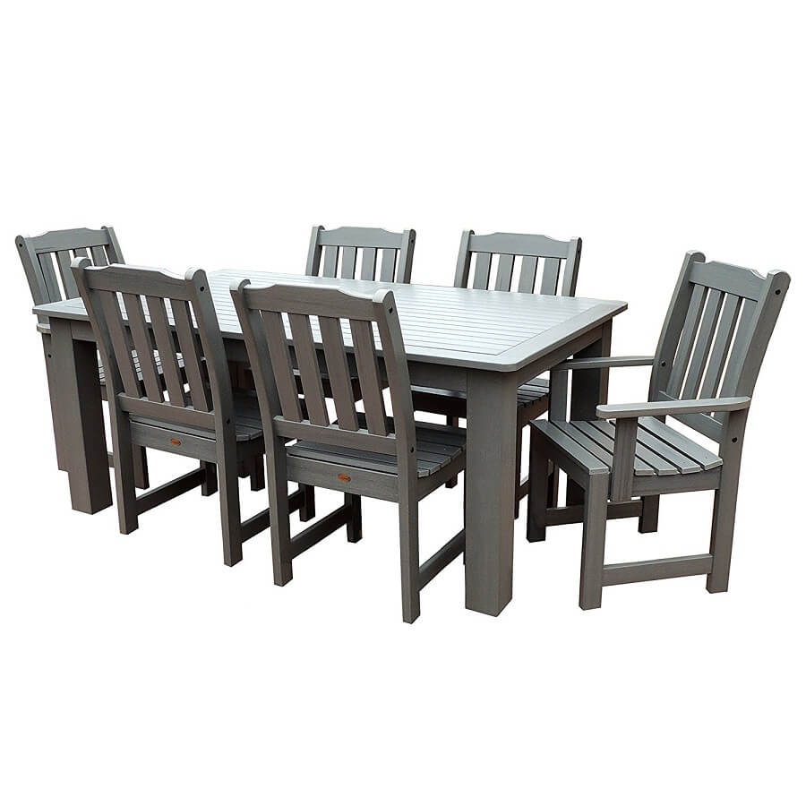 outdoor furniture set for dining, recycled plastic garden furniture