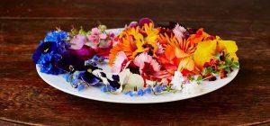 flower petals on a plate