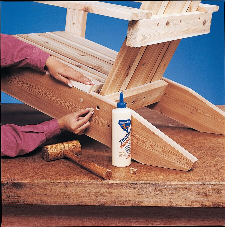 completing an adirondack chair
