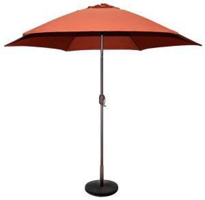 patio umbrella in orange