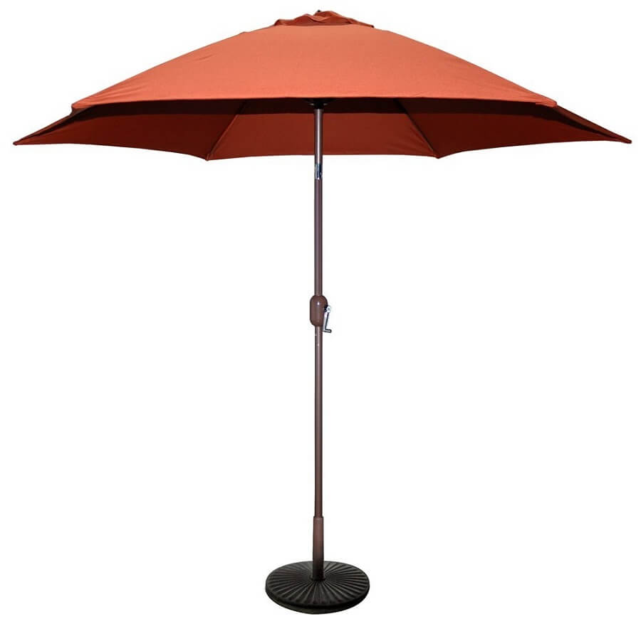 patio umbrella in orange