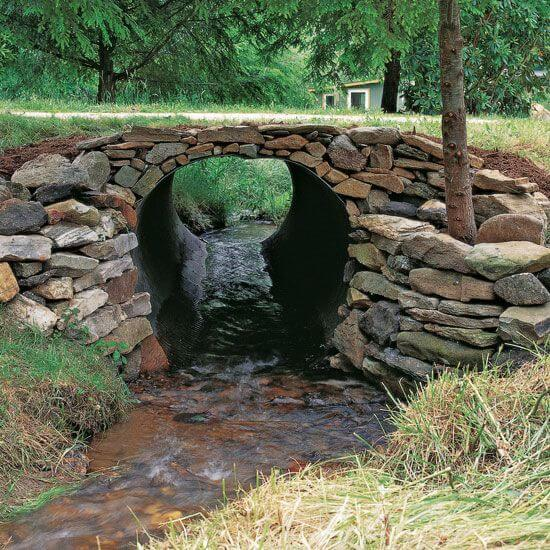 culvert made of dry stacked stone