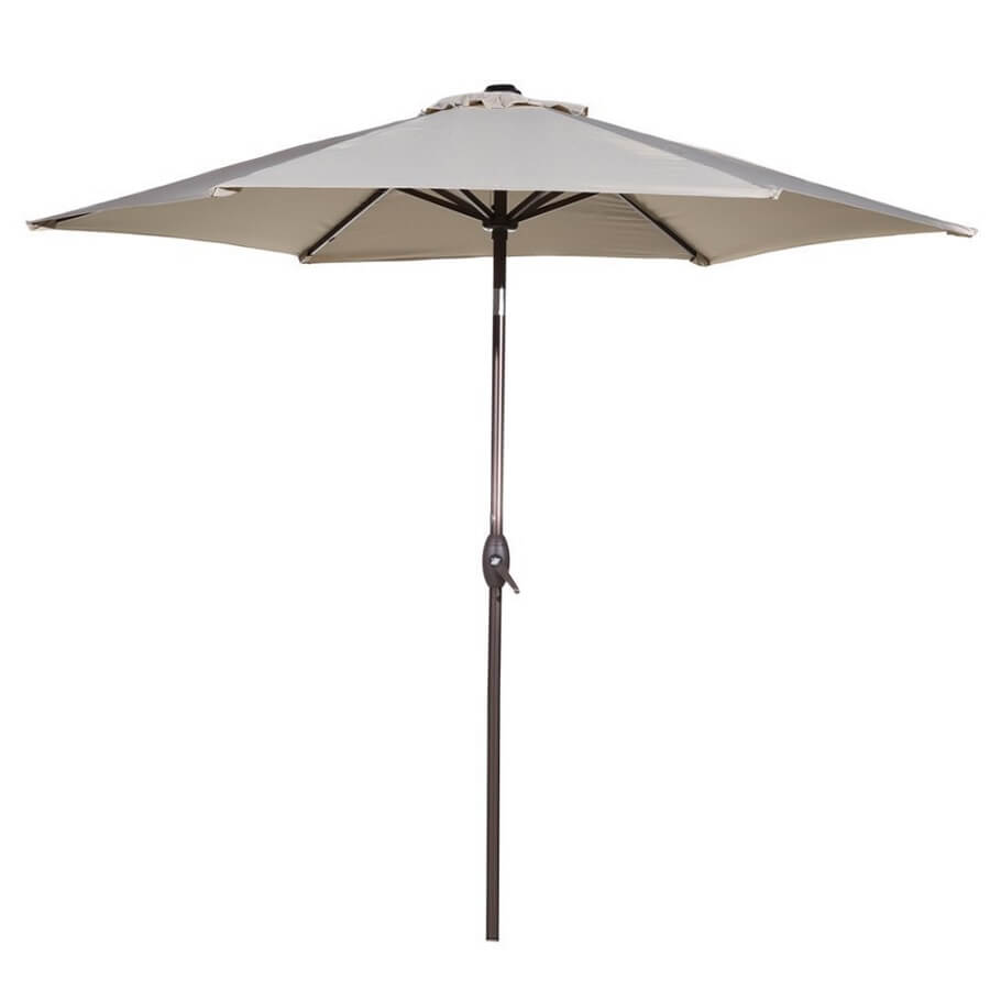 patio umbrella in white