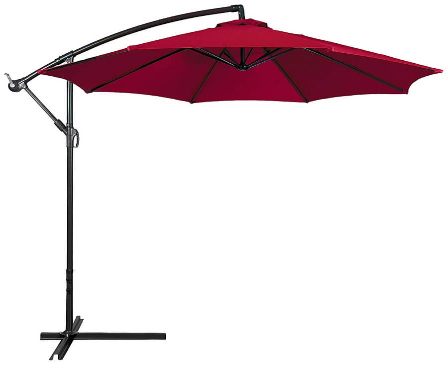 patio umbrella in burgundy, patio umbrellas