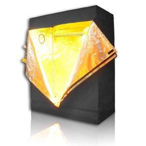 yellow light grow tent
