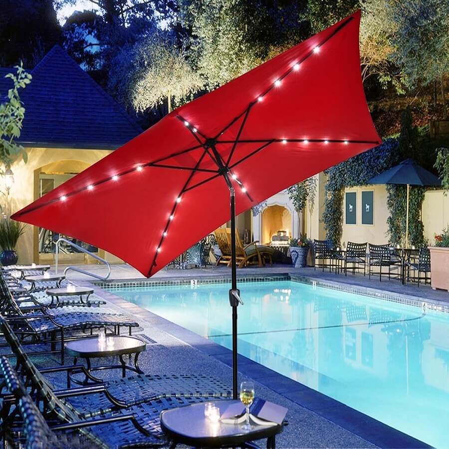 patio umbrella with led lights attached