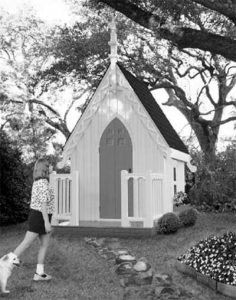 gothic-looking playhouse