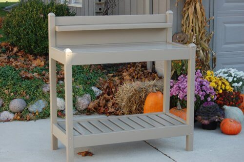 potting bench made of pvc