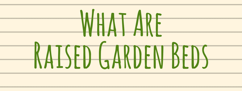what are raised garden beds