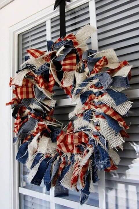 DIY American Wreath for the 4th of July
