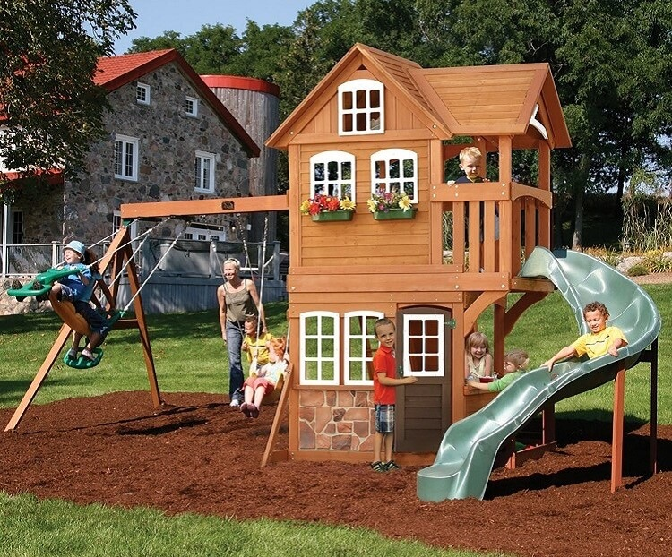 Summerstone Cedar Swing Set