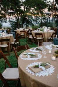 Backyard wedding organization