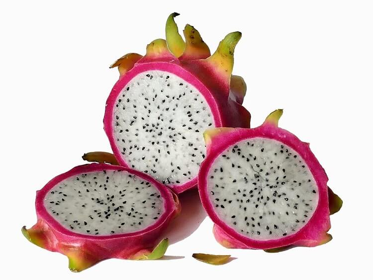 Dragon fruit cut in slices