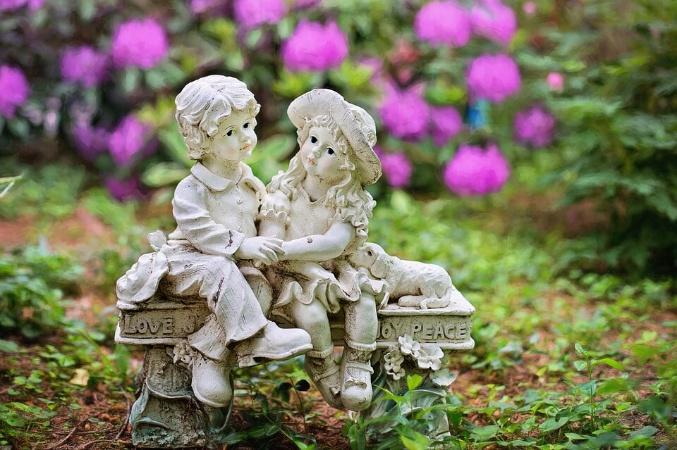 Children garden statues