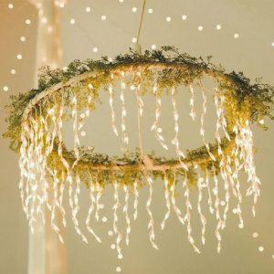 Hula Hoop chandelier for wedding decoration