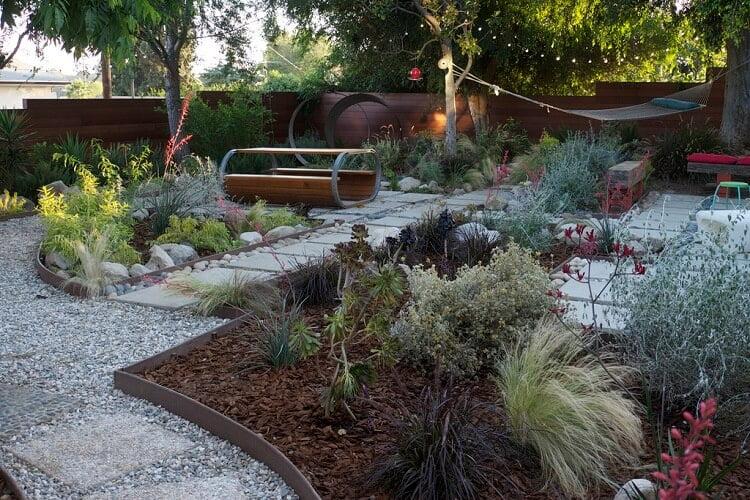 Pathway design in backyard