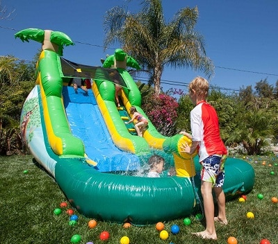 best outdoor playsets water slide