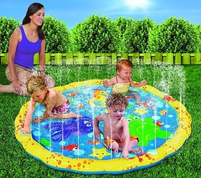 best outdoor playsets banzai water mat