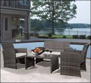 Goplus rattan furniture set