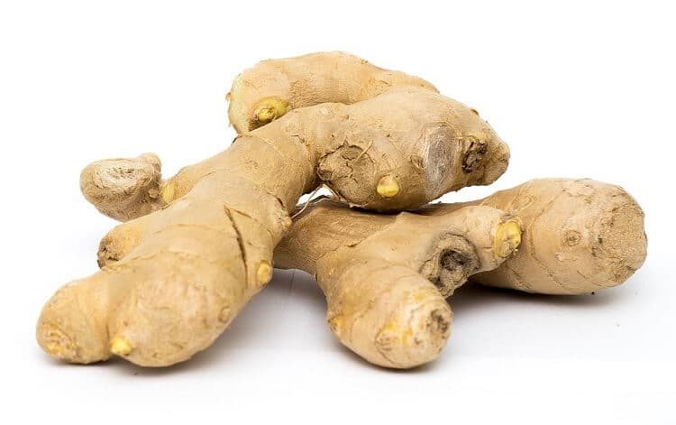 Ginger rhyzomes with eyes