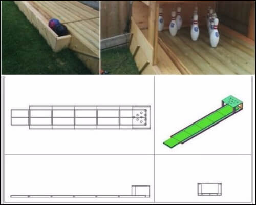 Backyard bowling set images and plan