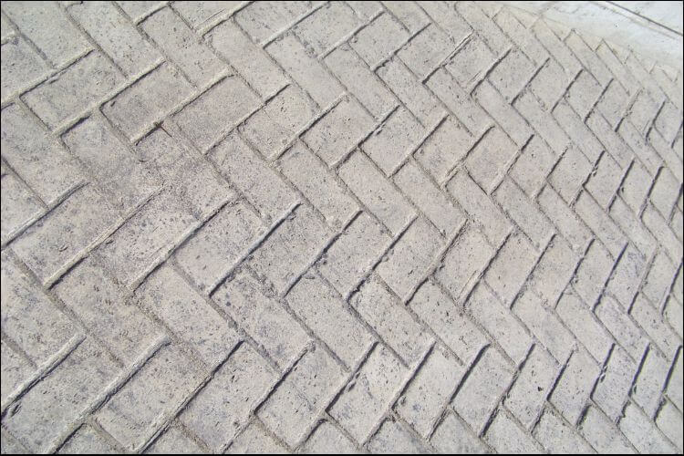 Close up of a pattern in a concrete surface