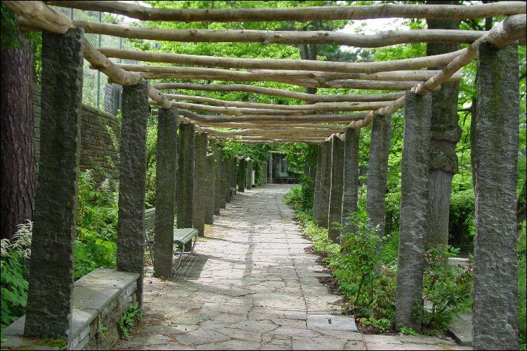 Pergola with a natural aspect