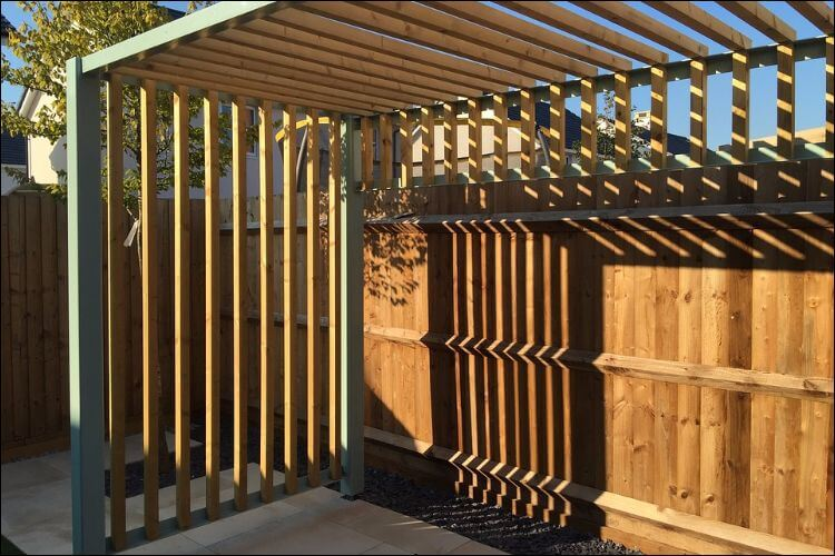 Pergola structure placed in the sun