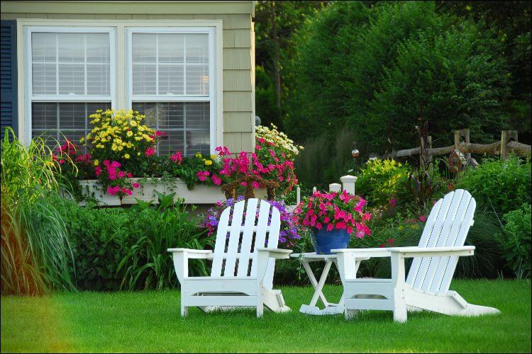 how to build outdoor furniture adirondack chairs on the lawn