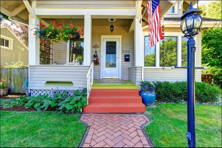 landscaping ideas for front porch American style porch