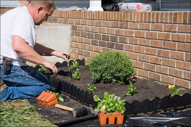 landscaping with bricks brick wall