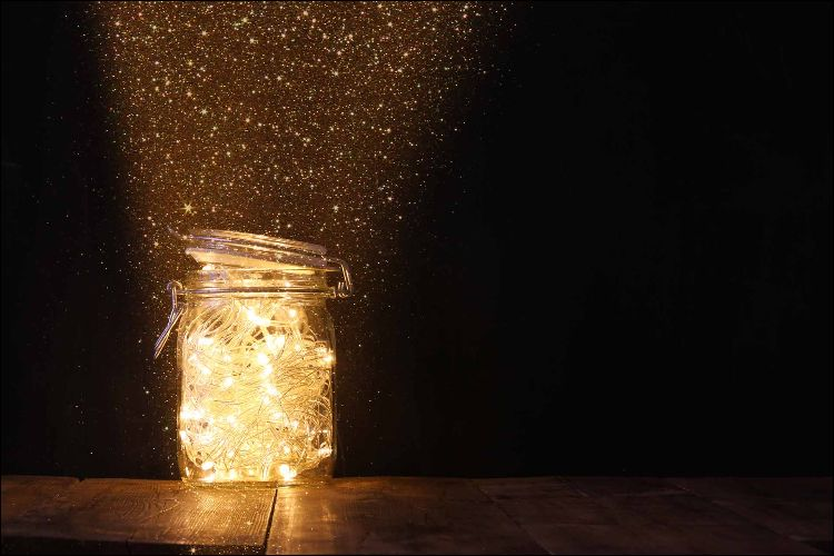 outside Christmas decoration ideas mason jar lights