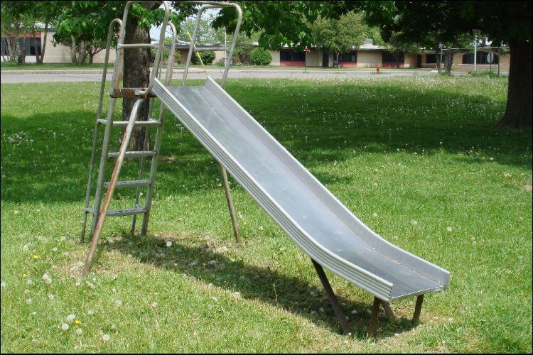 how to build a slide backyard metal slide