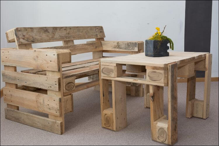 how to build outdoor furniture pallets table and bench