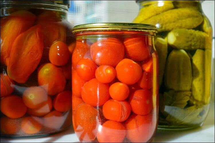 how to store garden vegetables pickled tomatoes and cucumbers