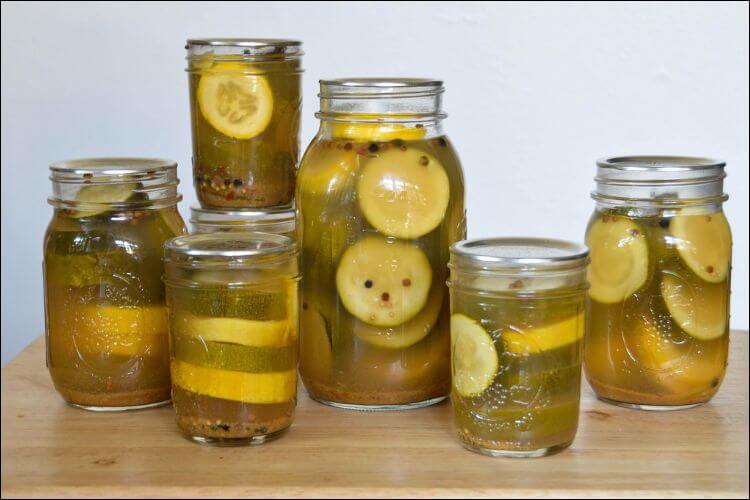 how to store garden vegetables pickled zucchini