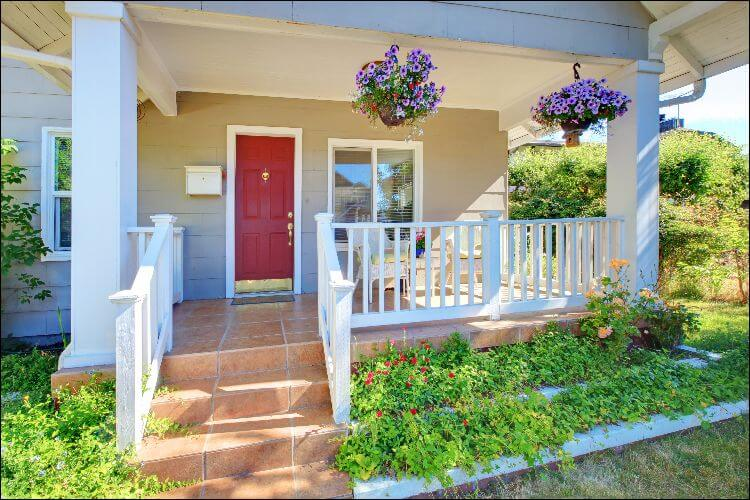 landscaping ideas for front porch planting beds in front of porch