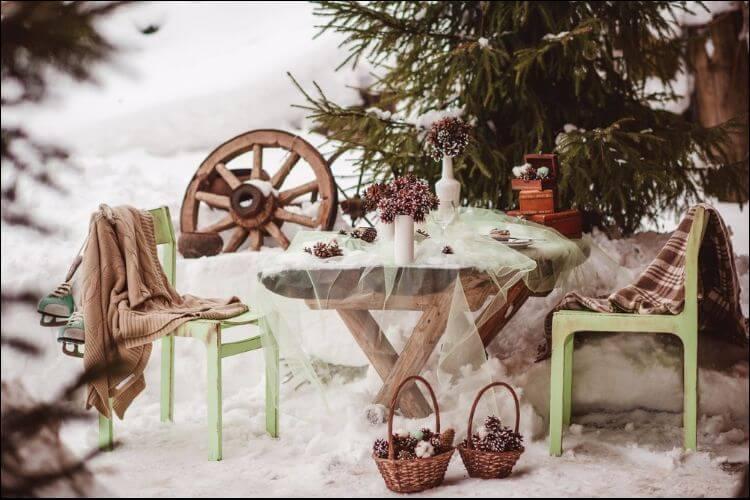 winter wedding ideas winter rustic decorations