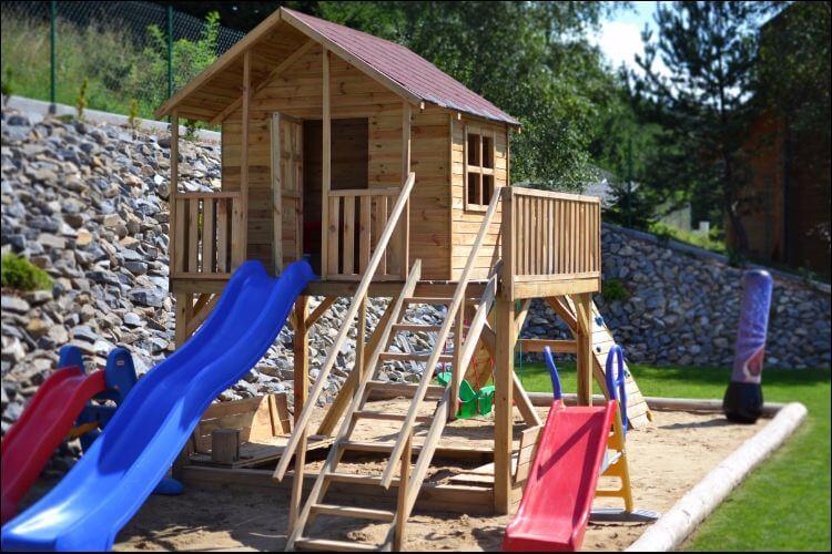 how to build a slide plastic slides with wooden platform